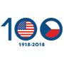 Logo oslav 100 let americko-českých vztahů