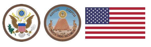Státní znak a vlajka USA