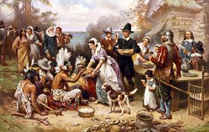 První Den díkůvzdání. Jean Louis Gerome Ferris, Library of Congress